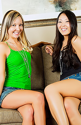Aaliyah Love and her Asian friend love to explore the other...