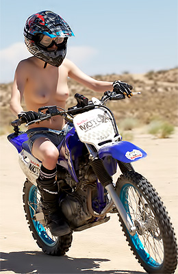 Wild handsome brunette Aiden Ashley loves riding a motorbike...