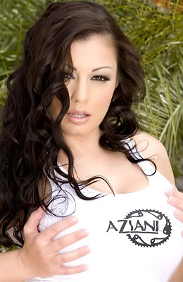 Do you know that Aria Giovanni loves to pose outdoors on...