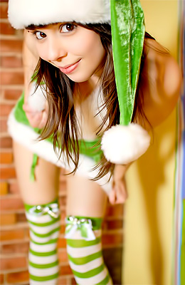 A green costume is making Ariel Rebel look even more...