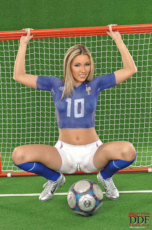 Something is. Sexy pussy bodypaint soccer