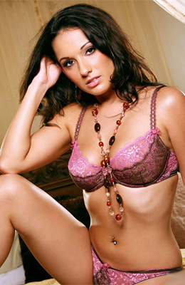 Sexy lingerie is making brunette princess Corin Riggs look...