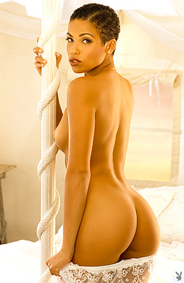 Sexy short haired nymphet Daphnee Lynn Duplaix poses in...