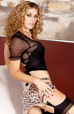 Curly haired model Heather Vandeven has hard sensitive...