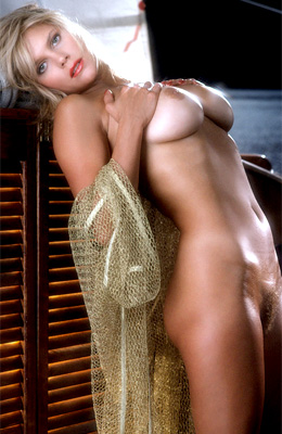 This retro gallery is all about blonde busty model...