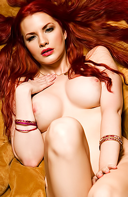 Red haired beauty, Kinsey Elizabeth started posing nude way...