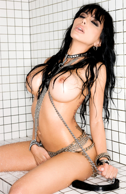 Brunette kinky model Lela Star loves chains and everything...