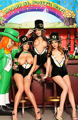 Lexi Belle is Irish when it comes to partying on Saint...