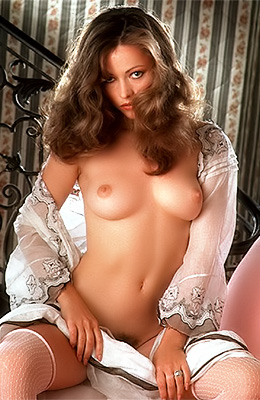 Great looking girl with chestnut hair, Linda Rhys Vaughn is...
