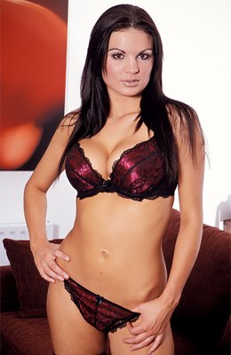Morgan is a very elegant chick, a Euro hottie with those...
