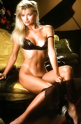 Gorgeous blonde girl with long legs, Pam Stein never...