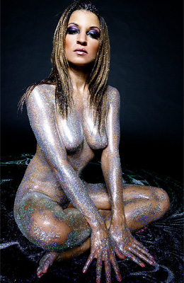 Ann Marie Rios is totally naked and showing off the perfect...