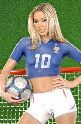 Body painting and soccer... That is the best combination for...