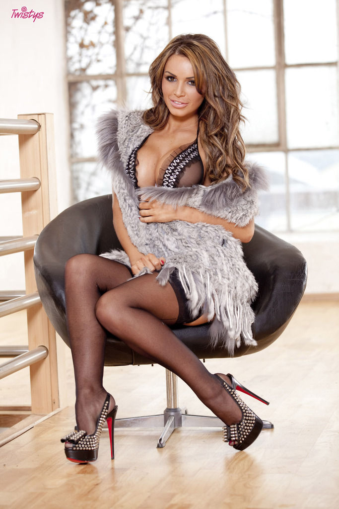 Gemma massey pussy Gemma Massey Black Sexy Stockings High Heels And Large Hooters That