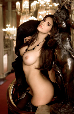 European babe Hope Dworaczyk is touching her nice tits and...