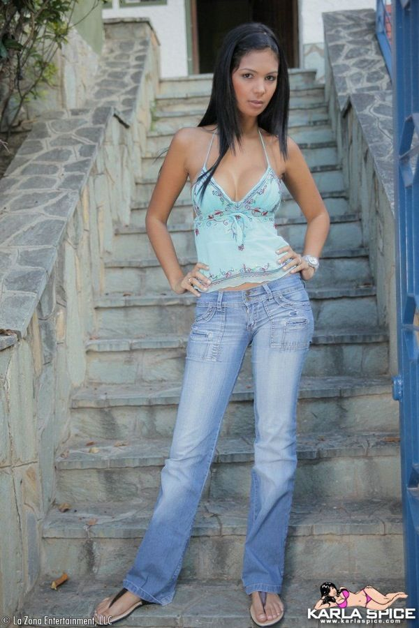 Karla Spice - Latina tanned model Karla Spice is showing
